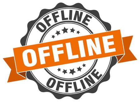 offline: offline stamp. sign. seal Illustration