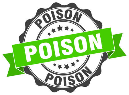 poison: poison stamp. sign. seal