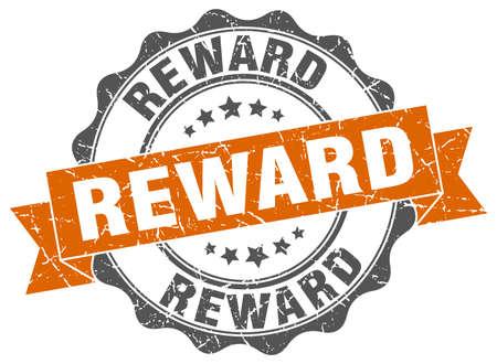 beloning stamp. teken. zeehond Stock Illustratie