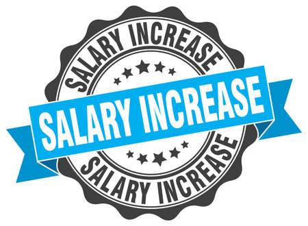 increases: salary increase stamp. sign. seal