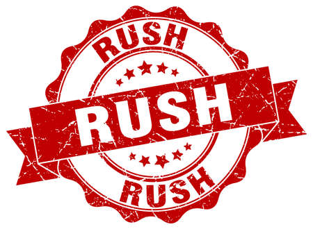 rush stamp. sign. seal
