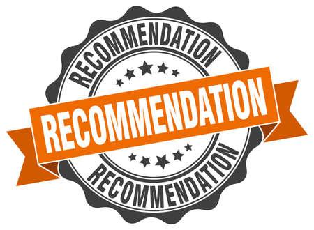 recommendation stamp. sign. seal Illustration
