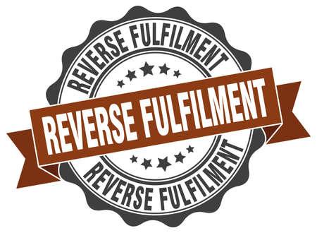 reverse: reverse fulfilment stamp. sign. seal
