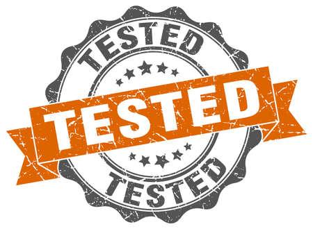 tested: tested stamp. sign. seal Illustration