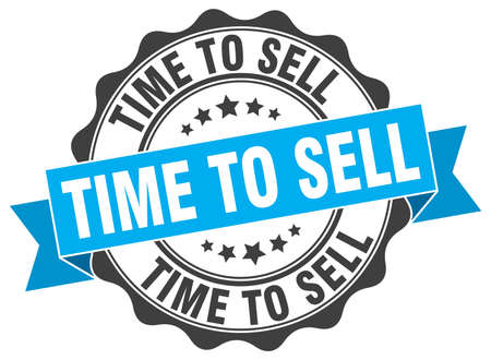 sell: time to sell stamp. sign. seal Illustration