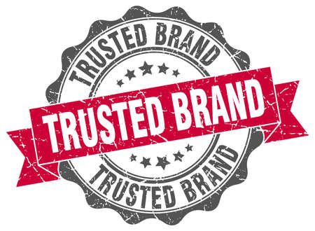 trusted: trusted brand stamp. sign. seal