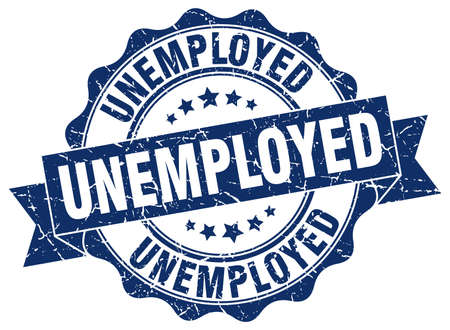 unemployed stamp. sign. seal