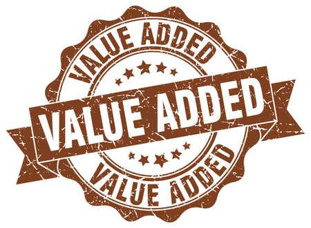 value added stamp. sign. seal Illustration