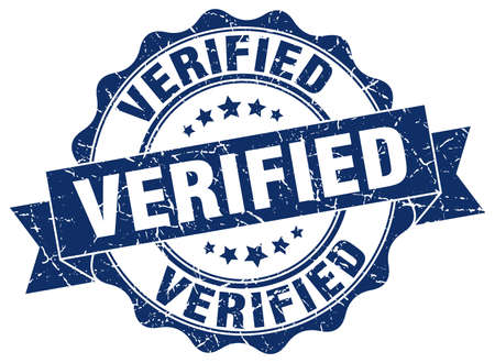 verified stamp. sign. seal