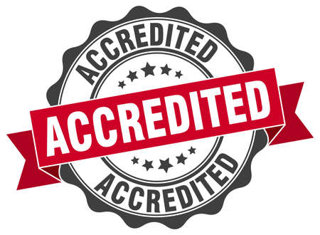 accredited: accredited stamp. sign. seal