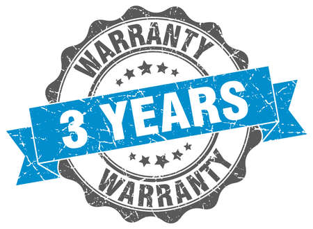 3 years warranty stamp. sign. seal