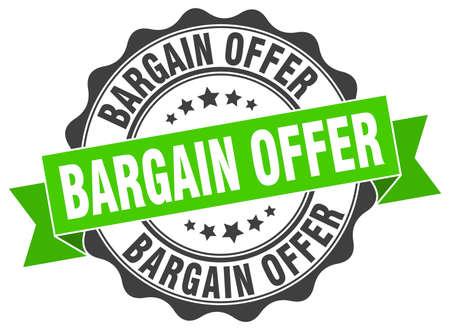 bargain: bargain offer stamp. sign. seal Illustration