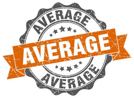 average: average stamp. sign. seal Illustration