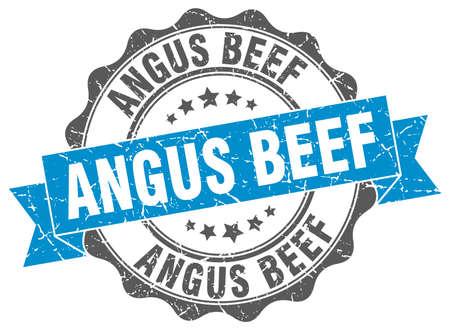 angus: angus beef stamp. sign. seal