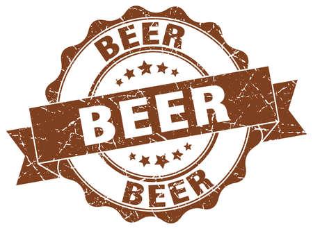 Biermarke. Schild. Dichtung