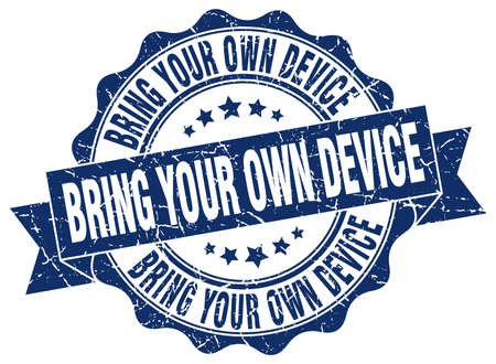 bring: bring your own device stamp. sign. seal Illustration