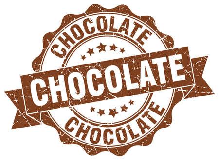 chocolate stamp. sign. seal Illustration