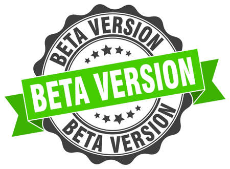 beta version stamp. sign. seal Vector Illustration