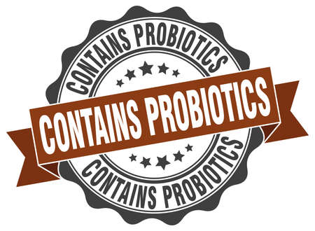 contains: contains probiotics stamp. sign. seal