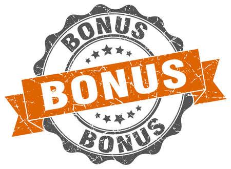 bonus: bonus stamp. sign. seal