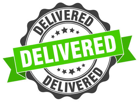 delivered: delivered stamp. sign. seal