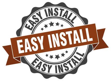 install: easy install stamp. sign. seal Illustration