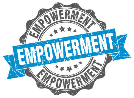 empowerment: empowerment stamp. sign. seal
