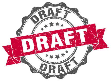 draft: draft stamp. sign. seal Illustration