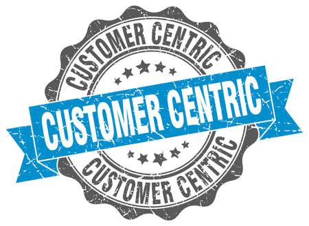 centric: customer centric stamp. sign. seal Illustration