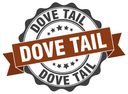 the tail: dove tail stamp. sign. seal