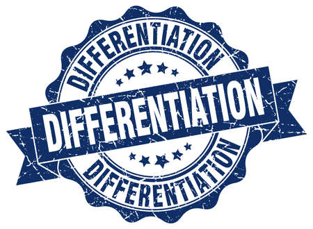 differentiation: differentiation stamp. sign. seal Illustration