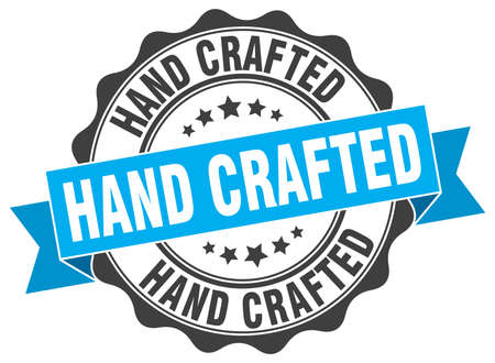 crafted: hand crafted stamp. sign. seal Illustration