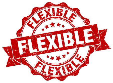 flexible: flexible stamp. sign. seal Illustration