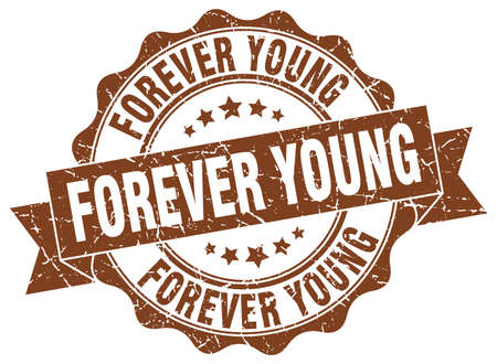 forever young stamp. sign. seal Illustration