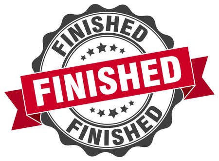 finished: finished stamp. sign. seal