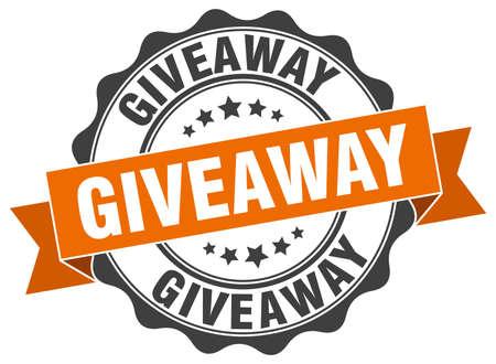 giveaway: giveaway stamp. sign. seal Illustration