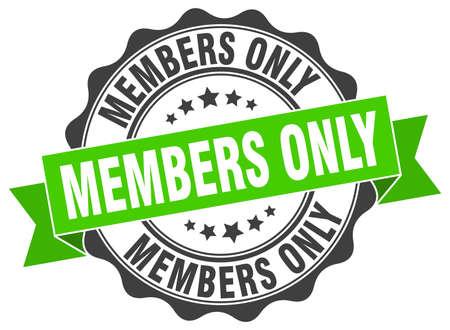 회원 전용 스탬프. 기호. 봉인