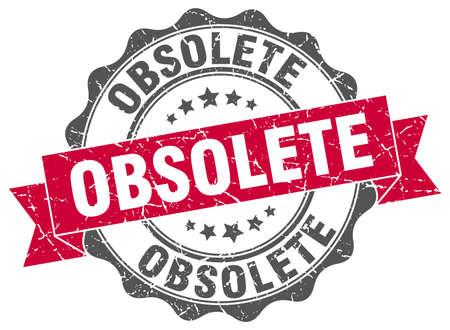 obsolete: obsolete stamp. sign. seal Illustration