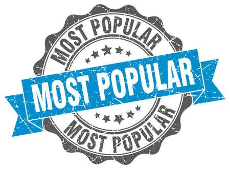 most popular: most popular stamp. sign. seal