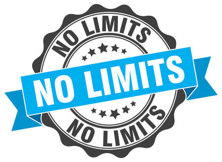 no limits: no limits stamp. sign. seal