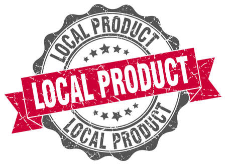 local: local product stamp. sign. seal Illustration