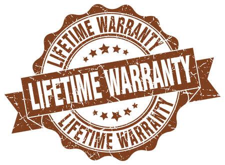 warranty: lifetime warranty stamp. sign. seal Illustration
