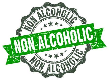 non alcoholic: non alcoholic stamp. sign. seal