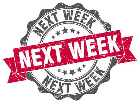 red ribbon week: next week stamp. sign. seal