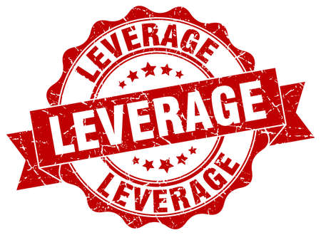 leverage: sello de apalancamiento. firmar. sello Vectores