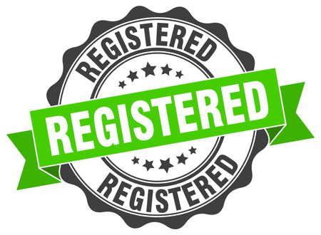 registered stamp. sign. seal