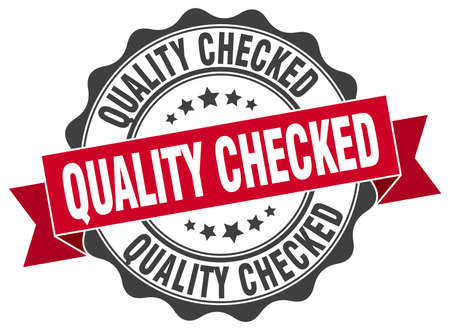 checked: quality checked stamp. sign. seal