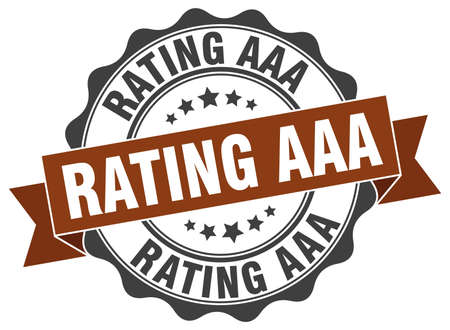 aaa: rating aaa stamp. sign. seal Illustration
