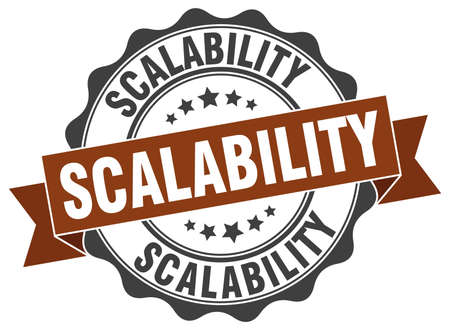 scalability: scalability stamp. sign. seal