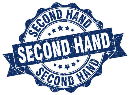 second hand: second hand stamp. sign. seal